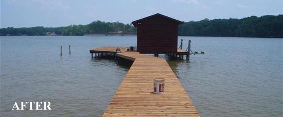 log home dock restoration north carolina after