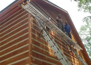 log home restoration Jefferson